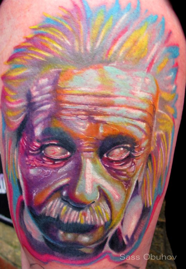 Zombie Einstein By Sass Tattoo On Deviantart Tattoos Color