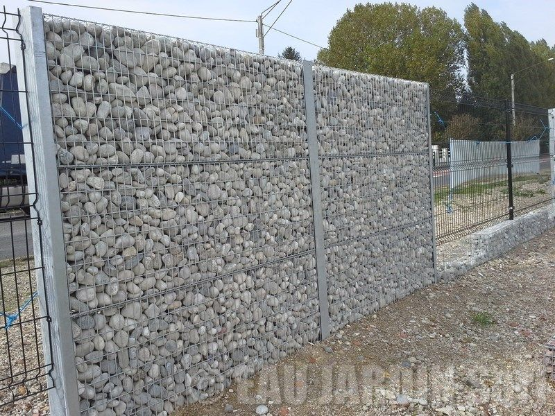 Cloture gabion maison herminis pinterest jardins for Cloture mur exterieur