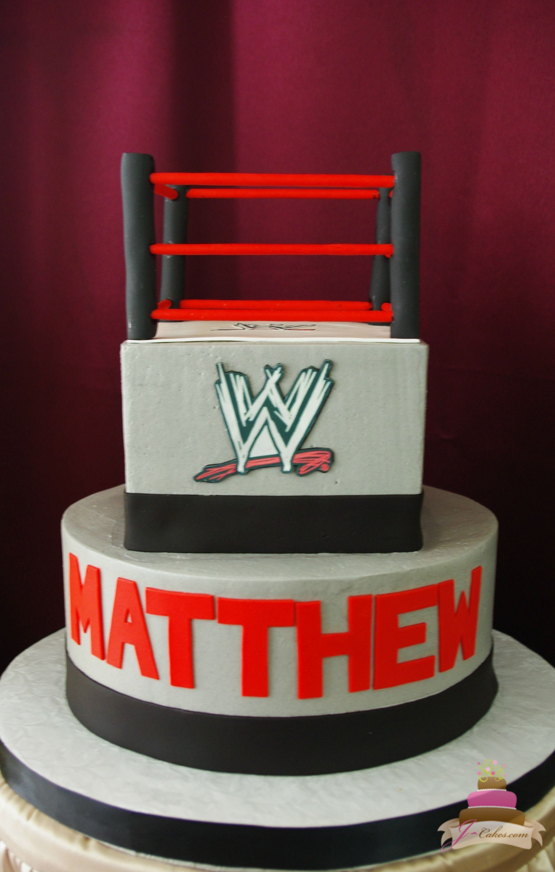 Pleasing Enchanting Childrens Cakes In Ct Wrestling Cake Wwe Birthday Personalised Birthday Cards Veneteletsinfo
