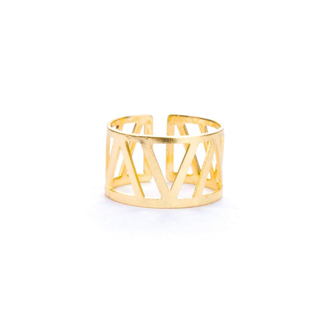 Geometric Cuff Ring