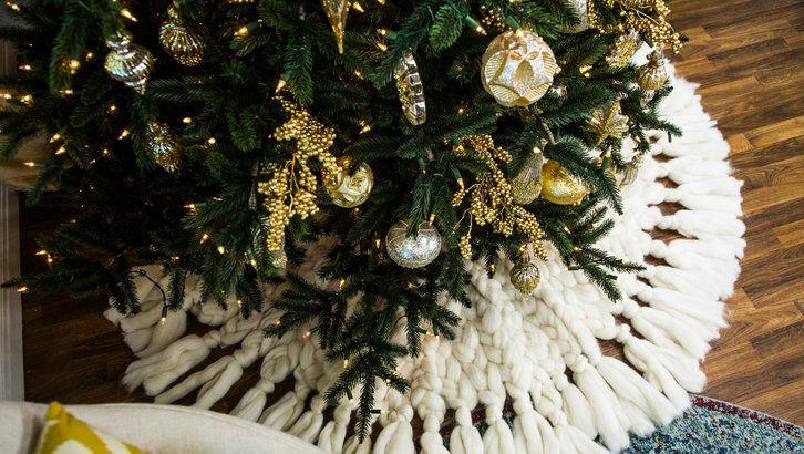 how to diy knit christmas tree skirt hallmark channel