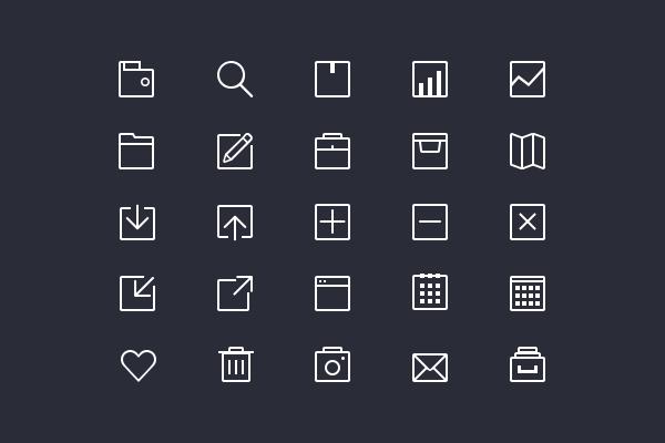 13+Free+Flat+Outline+Icon+Sets+For+Web+UI+Design