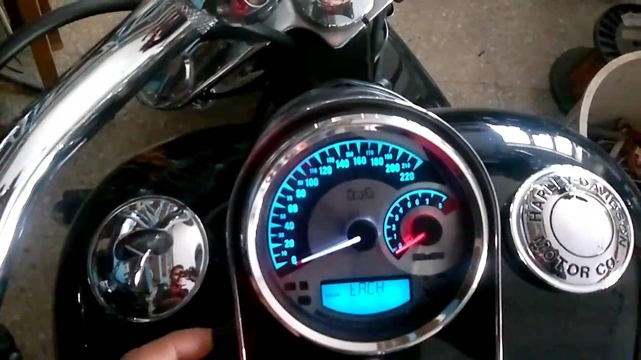 Harley Davidson Combination Sdometer Tachometer ... on