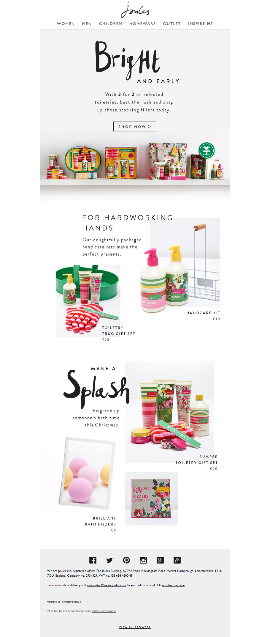 Joules Gifts Email Newsletter Email Marketing Design Email Marketing Design Inspiration Email Design
