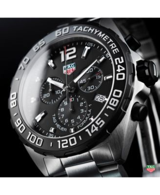 dbdffd9134c Tag Heuer Men s Swiss Chronograph Formula 1 Stainless Steel Bracelet Watch  43mm
