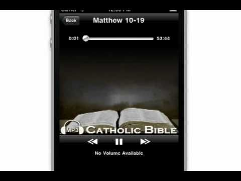 The MP3 Catholic Bible App for iPhone and Android