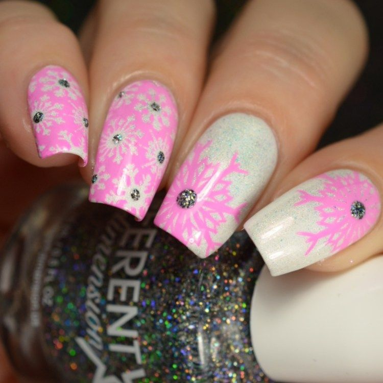 Different Dimension Winter 2017 Collection | Snowflake nail art ...
