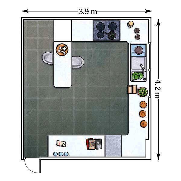 Planos Para Barra De Cocina