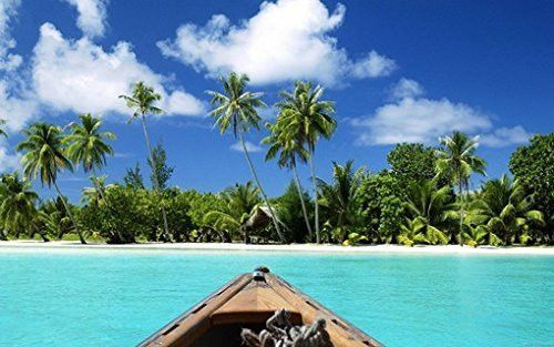 TROPICAL PARADISE POSTER Canoeing to Beach 1 RARE HOT NEW 24×36