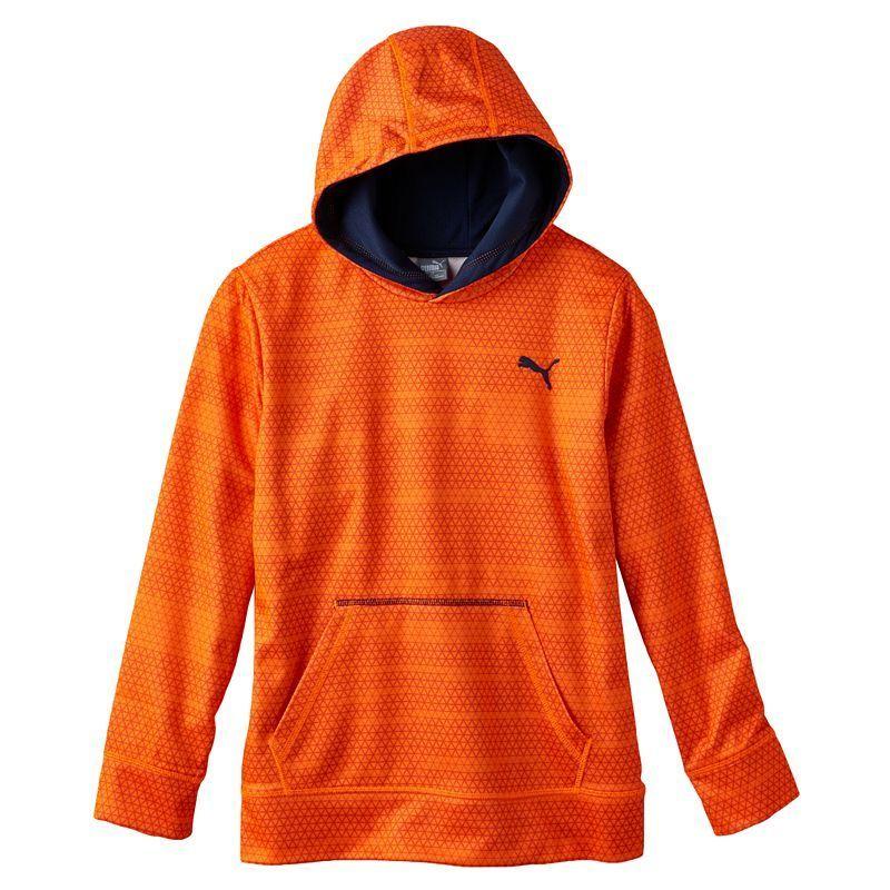 Boys 8-20 PUMA Logo Hoodie, Boy's, Size: Medium, Orange Oth