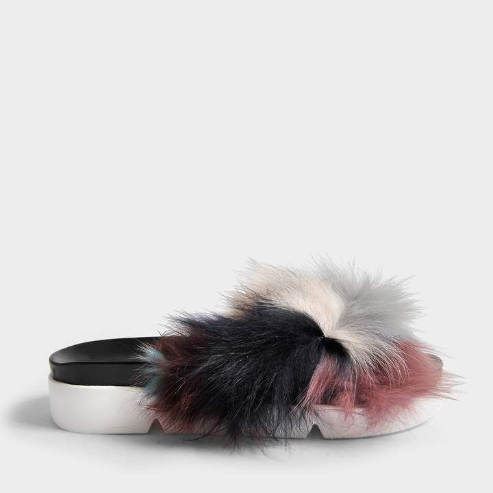 Sublime Fur Pool Slides in Carnival Furmania Stuart Weitzman PB3ZdE