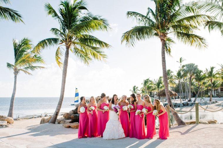 Beach Fun Bright Bridesmaid Dresses