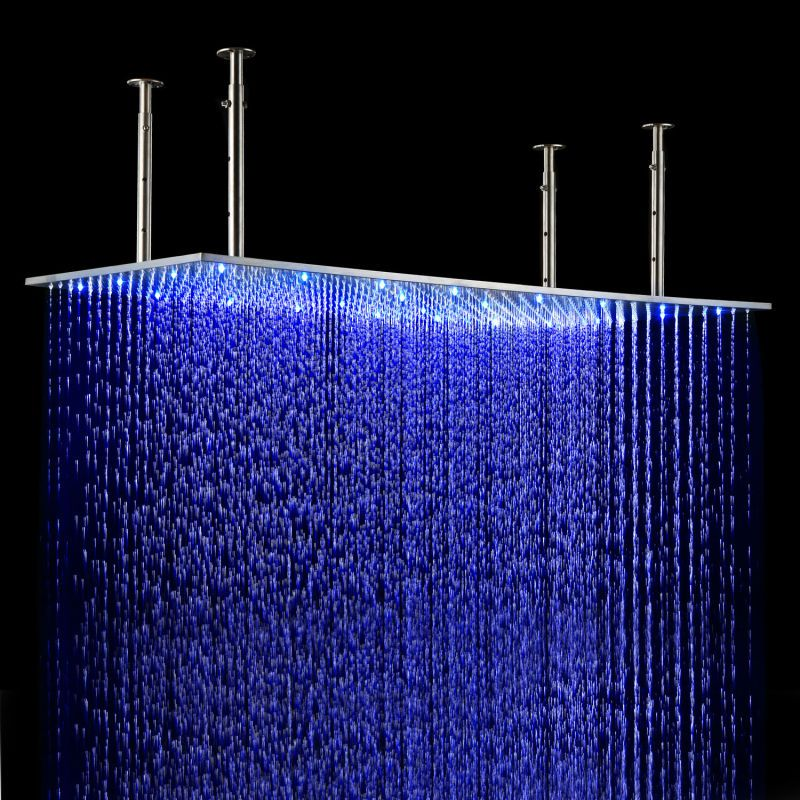 romantic color changing lighted rain shower headshower systemhead showerin bathroom