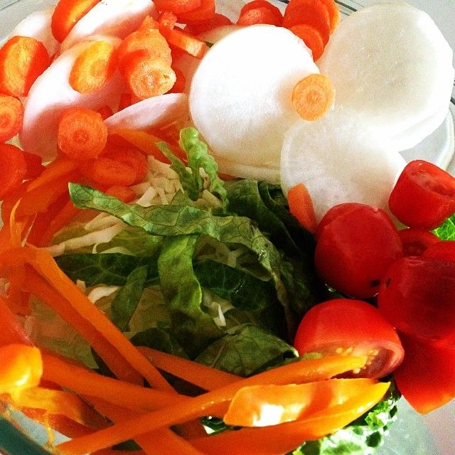 """""""My salad bowl ❤️!! #yummy #healthy #fresh #salad #vegetables #colors #hungry """""""