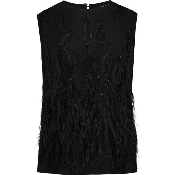 Saloni Beth embellished crepe top (€210) ❤ liked on Polyvore featuring tops, black, beaded sequin tops, loose fit tops, loose tops, sequin top and embellished tops
