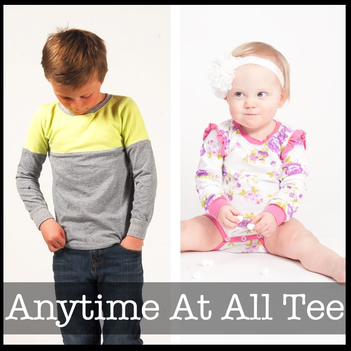 Anytime At All Tee | DIY / Craft Ideas | Sewing patterns, Sewing ...