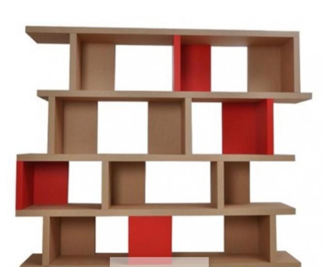 Etagere Etage R En Carton Recycle 170x30x148cm Ubslt Un Bureau Sur La Terre Ouvert Design En Carton Etagere En Carton Meubles En Carton