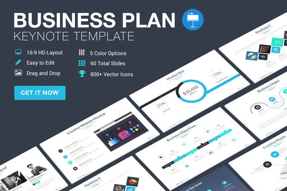 Business Plan  Keynote Template By Slidepro On Creative Market
