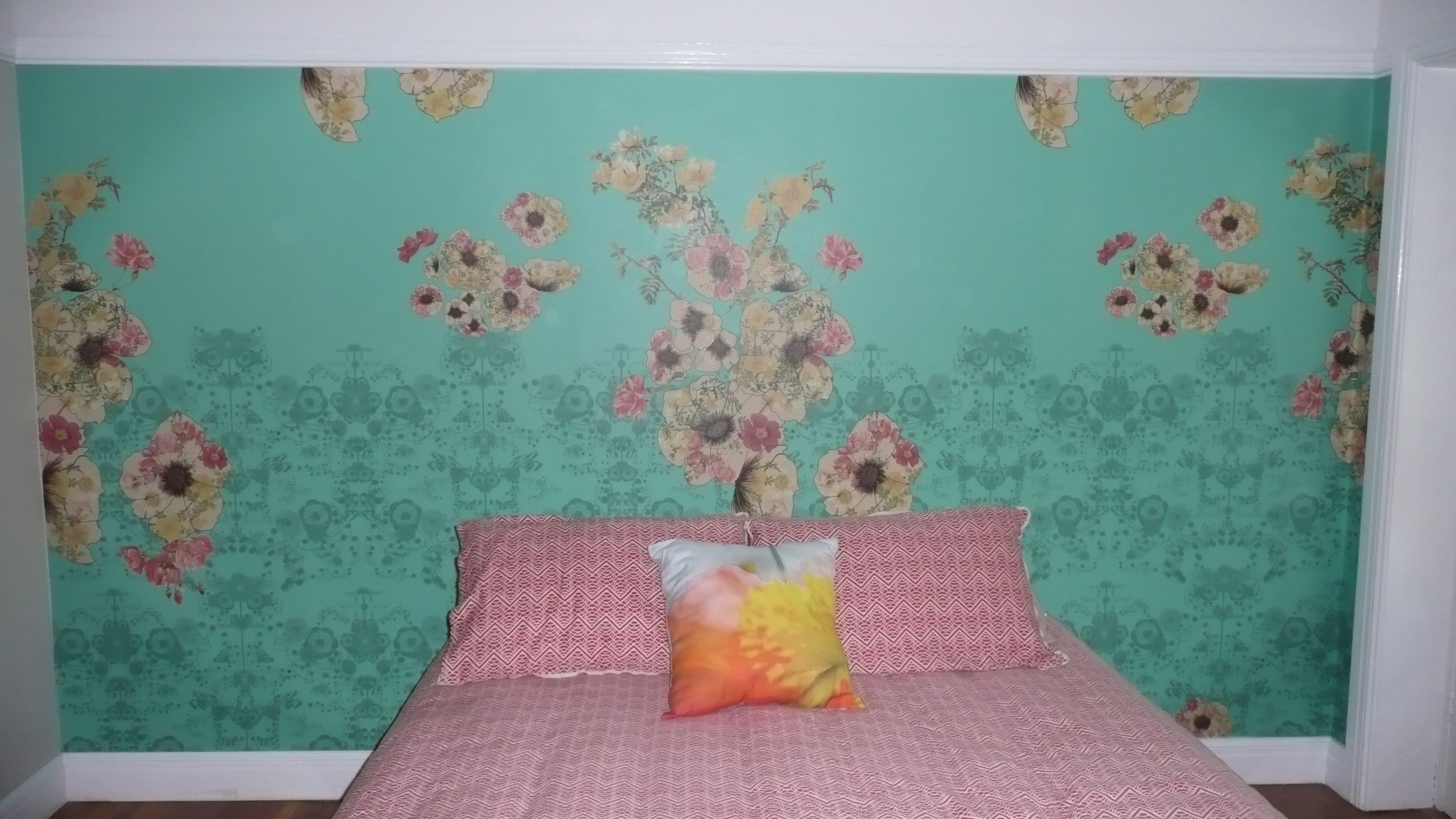 Another fantastic Flowers Wall Mural in a bedroom Wall