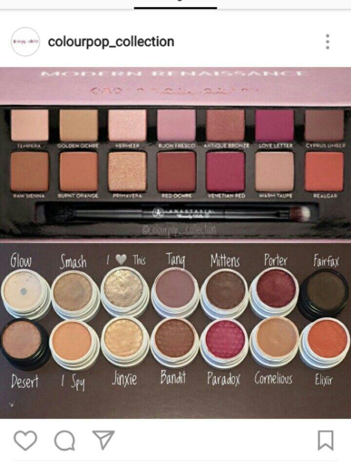 Colourpop Kylie Cosmetics: Colourpop Dupes For The ABH Modern Renaissance Pallette