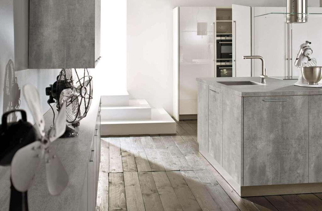 Beton Ciré Günstige Arbeitsplatte in Beton-Optik - Arbeitsplatte Küche Edelstahl