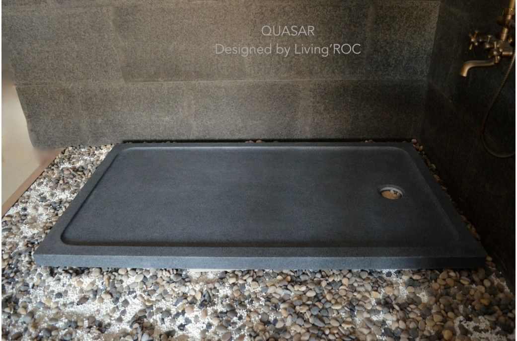 1600mm Grey Granite Shower Tray Stone For Bathroom   QUASAR