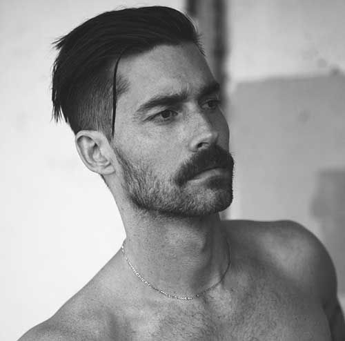 Mens Dark Hairstyles Short Back And Sides