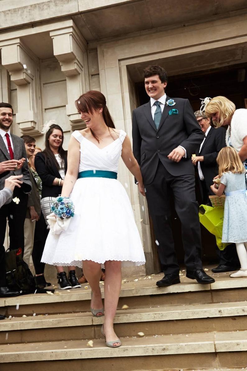 Short Wedding Dress Off Shoulder Cotton Eyelet Flir Tini Etsy In 2021 Tea Length Wedding Dress Short Wedding Dress Wedding Dresses [ 1191 x 794 Pixel ]