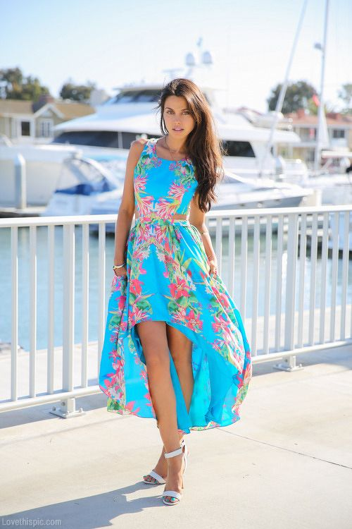 #Floral #Asymetric #Dress #Style #Fashion #Women