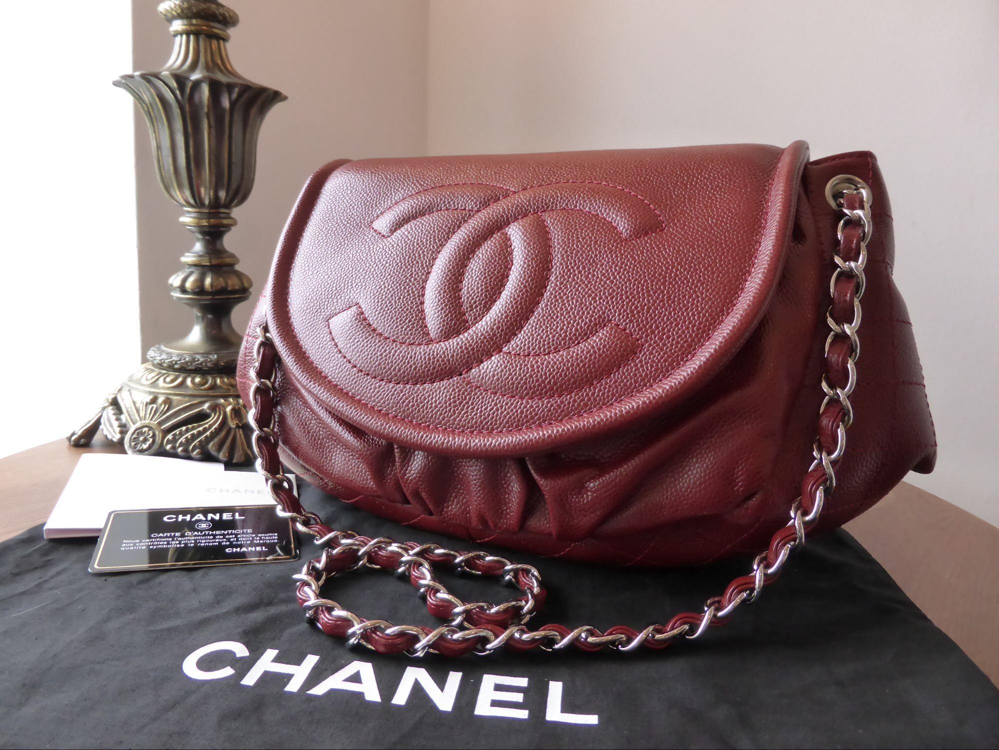 8bf1f9bd5433 Chanel Half Moon Jumbo XL Timeless Flap in Dark Red Caviar > http:/