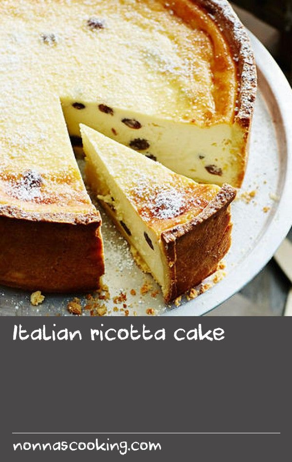 Italian ricotta cake | Light citrus cheesecakes are a common sight across Italy, where they are made with ricotta in place of cream cheese. The case also differs, made with sweet pastry instead of biscuit crumbs.