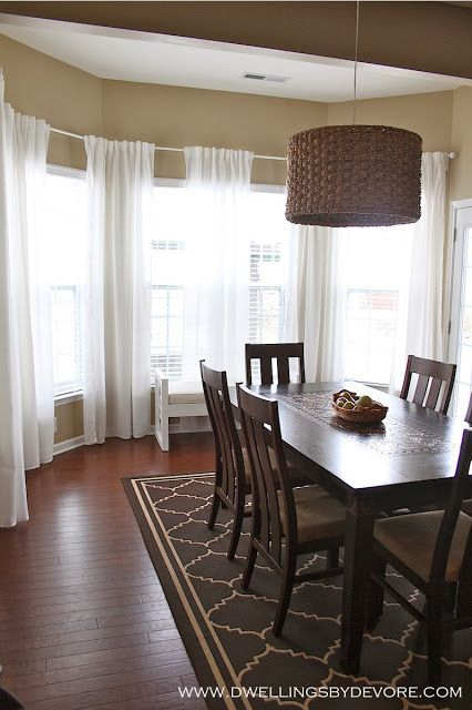 How To Hang Curtains In A Bay Window Using Inexpensive IKEA Hardware And Curtain Panels