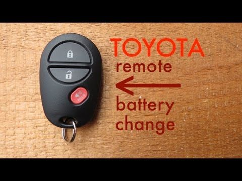 How To Toyota Key Fob Remote Keyless Battery Change Replace How