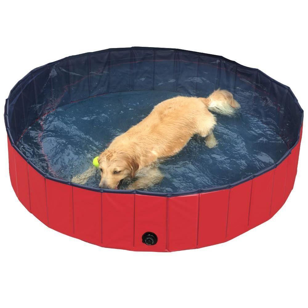 Tub You Yaheetech Foldable Pvc Pet Swimming Pool Bathing Tub You Can