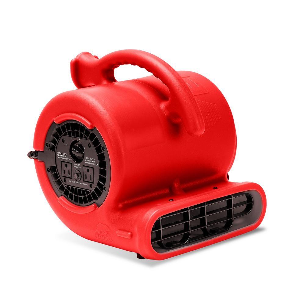 1/4 HP 900 CFM 9 in. Air Mover Carpet Dryer Floor Fan for