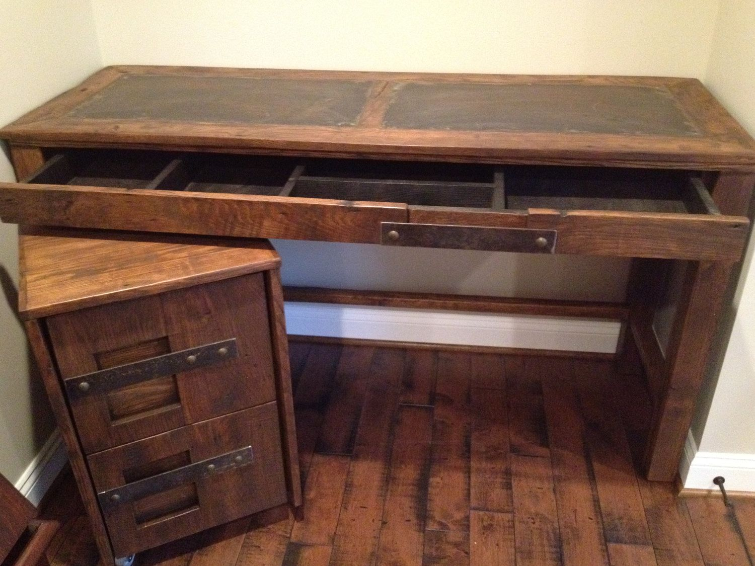 Steel Top Desk And File Cabinet By Toddmanring On Etsy