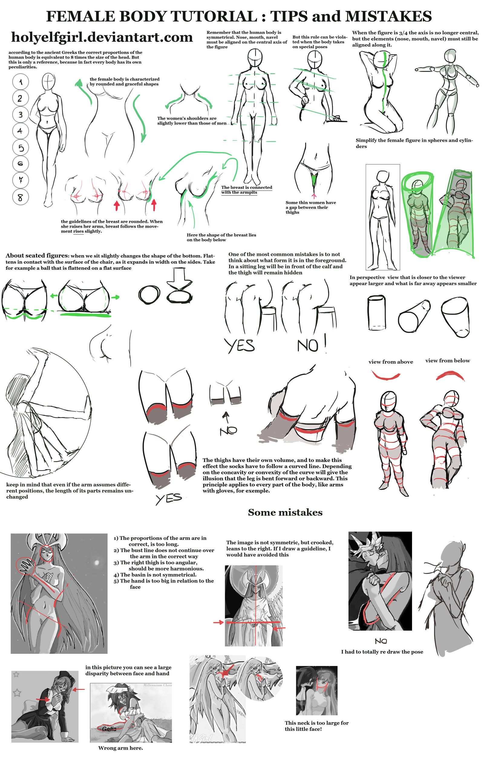 Female Body Tutorial Tips And Mistakes By Holyelfgirl On Deviantart