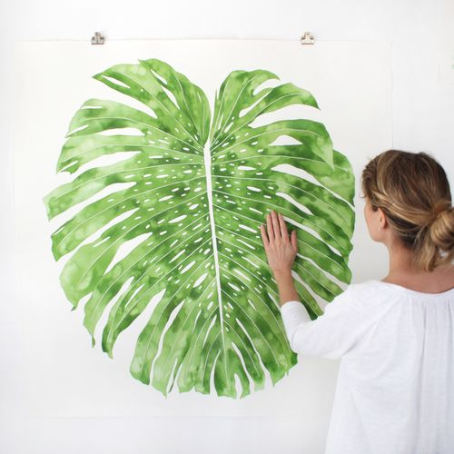 large-monstera-painting