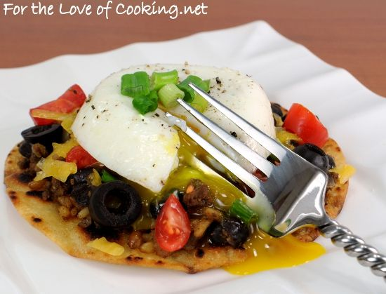 MEXICAN TOSTADA TOPPED WITH A POACHED EGG http://www ...