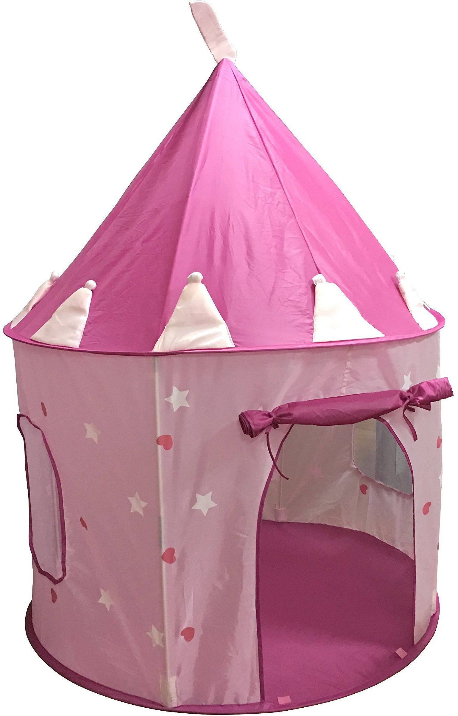 This princess tent is a HUGE hit with little girls because this play tent has Glow-in-the-dark stars which shine ...  sc 1 st  Pinterest & SueSport Girls Pink Princess Castle Play Tent Children Play Tent ...