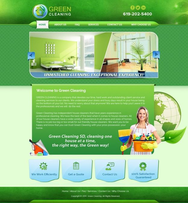 Create my website to be the BEST Green Cleaning wesbite.. I dare you! by Shaurya-Arts