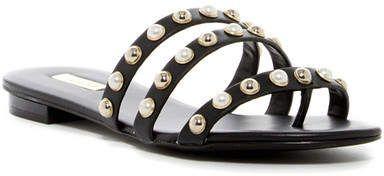c3348db1449 Aldo Mya Embellished Tripe Strap Slide Sandal