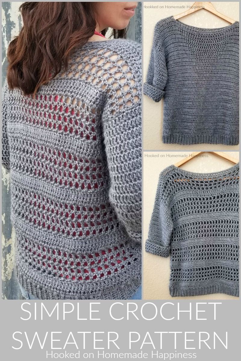 38fbc3e9f Simple Crochet Sweater Pattern