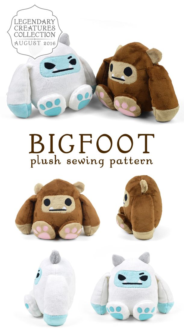Bigfoot - Pattern by Choly Knight | Peluches | Pinterest | Costura ...
