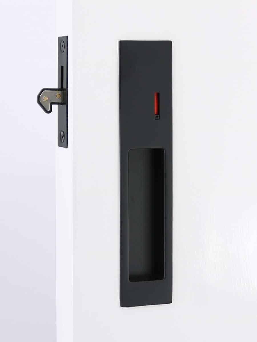 Milos Cavity Slider Lock Matte Black Finish For Pocket Doors In