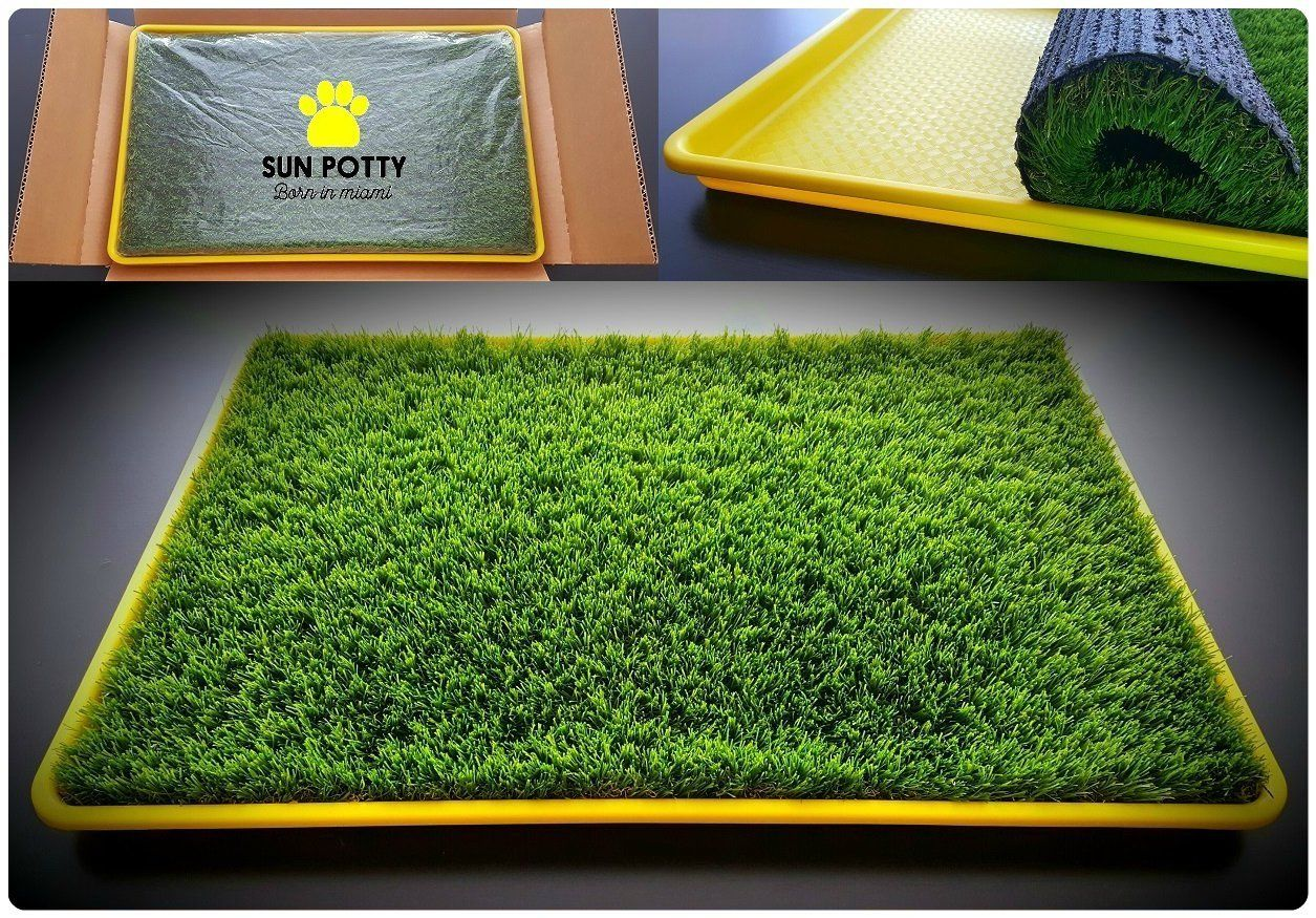 SUN POTTY Premium Artificial Dog Potty Grass Rubber Backed