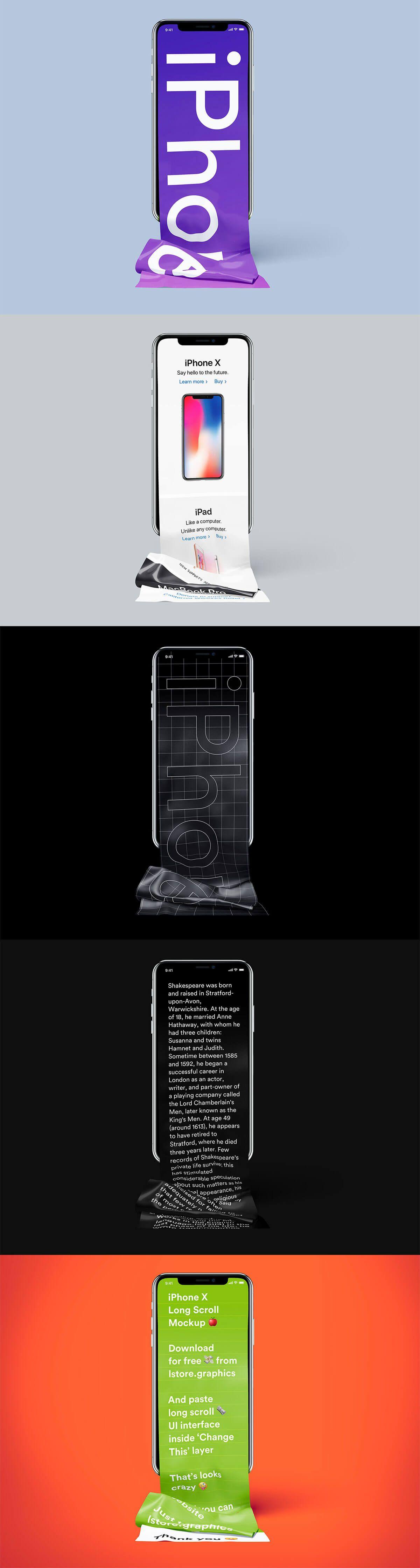 Free Long Scroll Iphone X Mockup Mockup Phone Mockup Web Design Inspiration