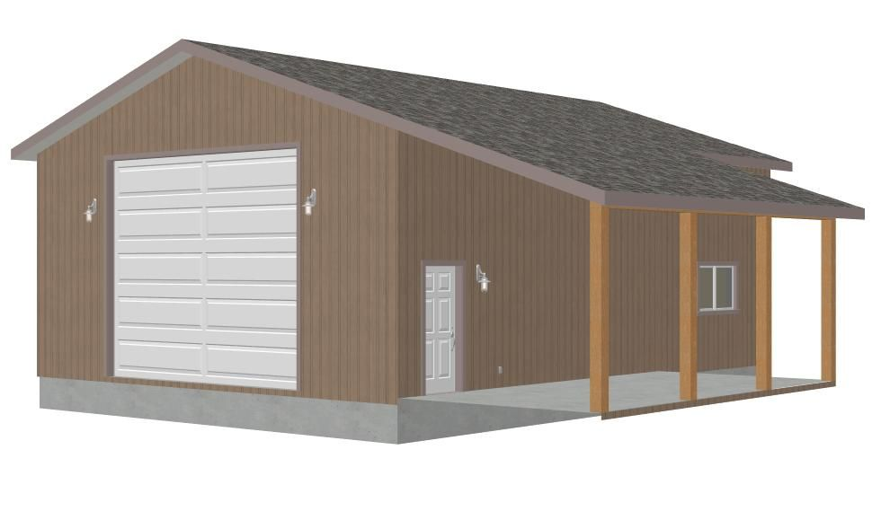 Detached garage ideas 15 30 39 x 40 39 x 14 39 detached for Rv shed ideas