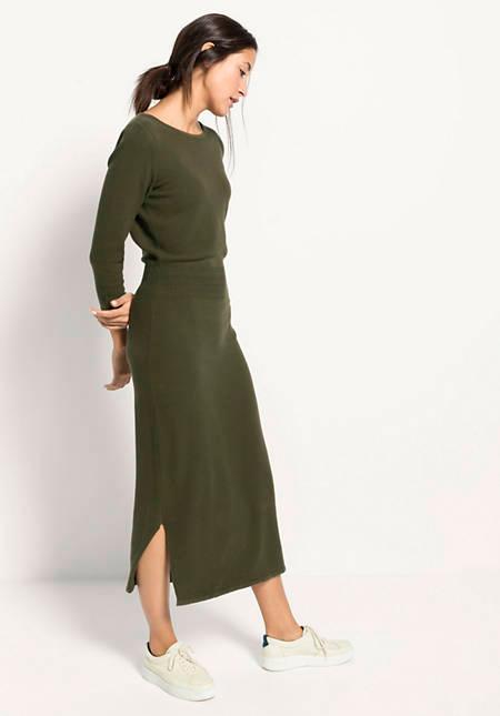 strickkleid aus reiner bio-baumwolle in 2020   kleider