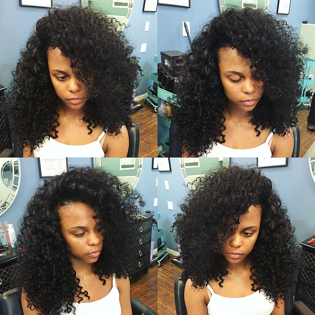 flip over method   curly weave   weave hairstyles, sew in